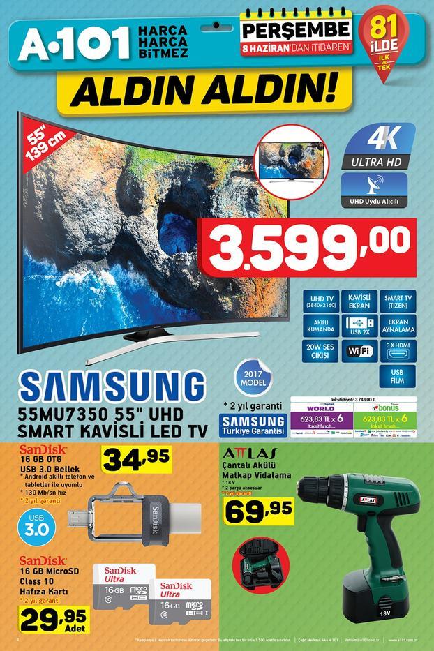 A101de İNDİRİMLİ Samsung UHD Curved TV A101 31 Şubat aktüel ürünler kataloğu 61