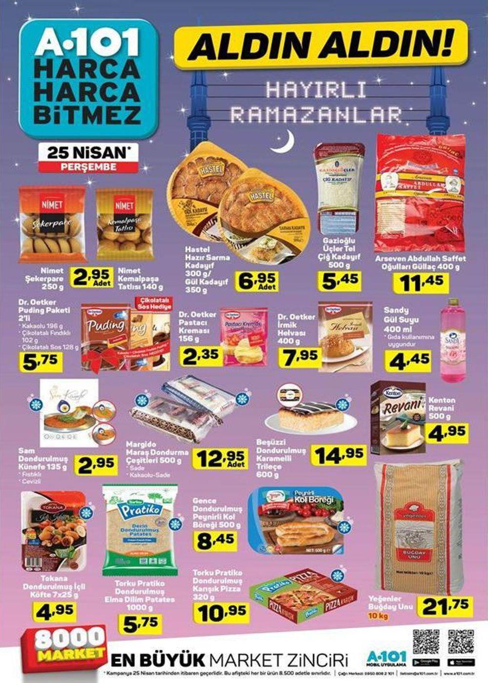 25 nisan a101 ramazan ayi indirimleri