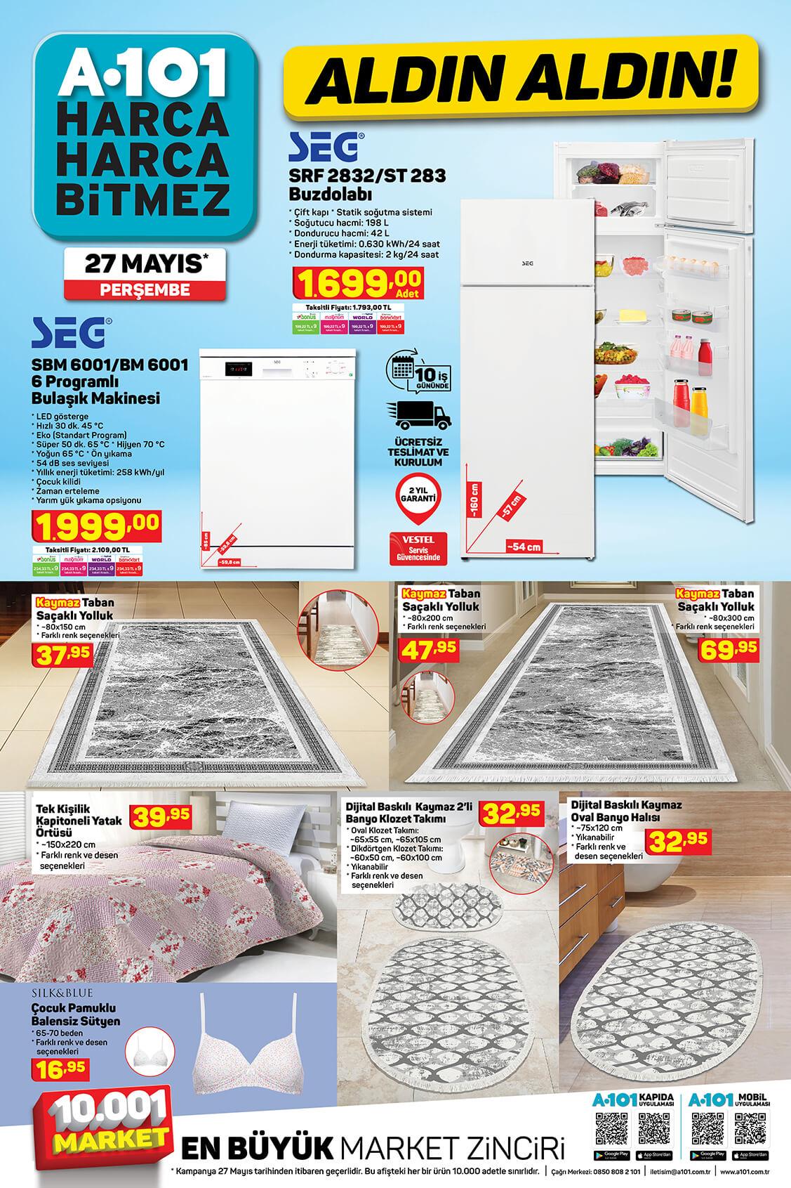 A101 27 Mayıs Perşembe Aktüel Ürün Kataloğu 3 Bölüm