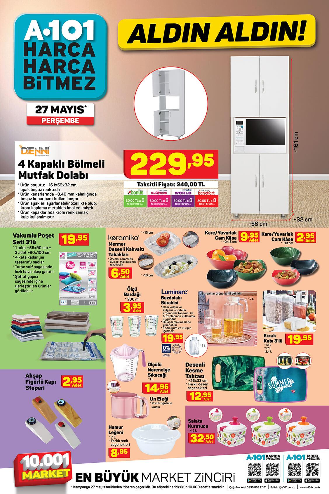 A101 27 Mayıs Perşembe Aktüel Ürün Kataloğu 7. Bölüm