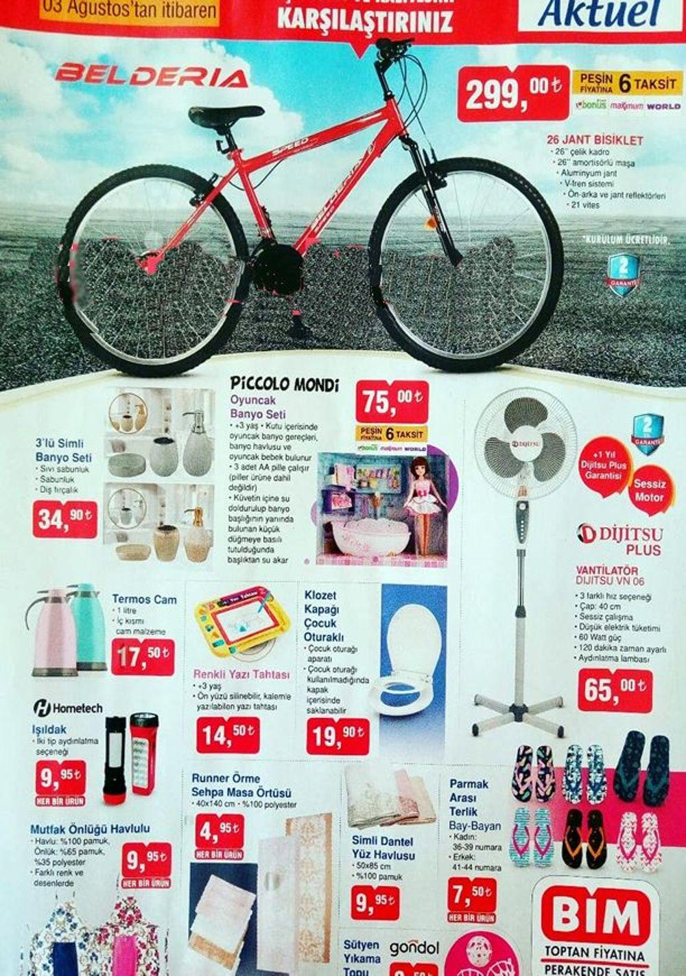 3 agustos 2018 bim aktuel urunler katalogu bisiklet