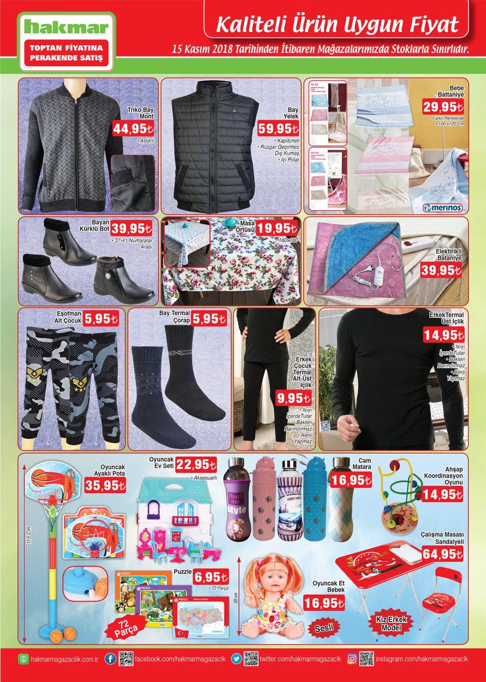 15 kasim hakmar giyim urunleri ve oyuncak katalogu