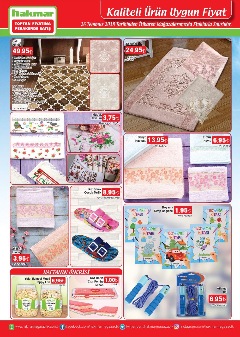 hakmar 26 temmuz 2018 aktuel katalogu tekstil urunleri
